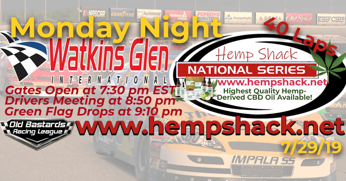 Certified CBD Oil Hemp Shack National Series Race at Watkins Glen