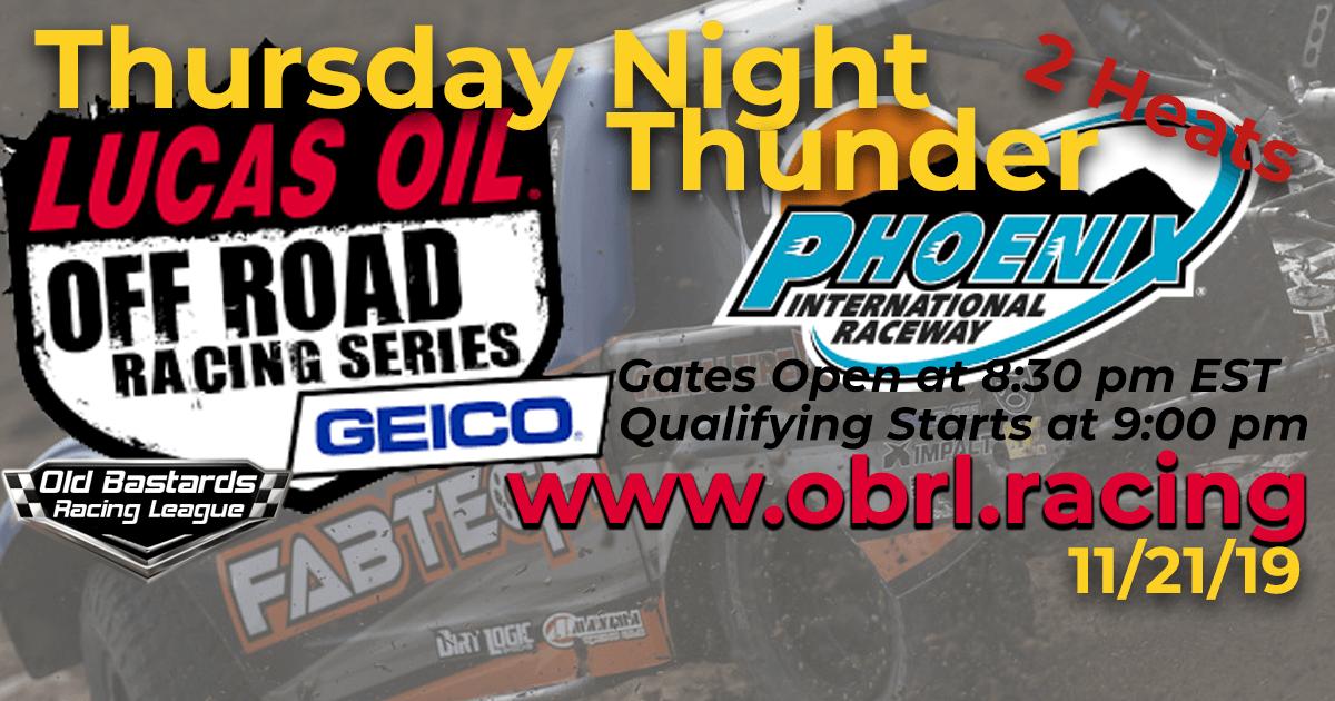 Lucas Oil Off Road Truck Series Race at Phoenix ISM Raceway - 11/21/19
