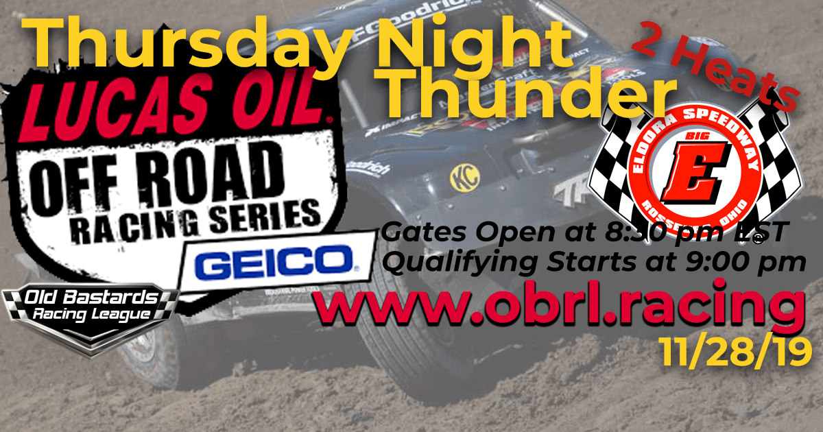 Lucas Oil Off Road Truck Series Race at Eldora Speedway - 11/28/19