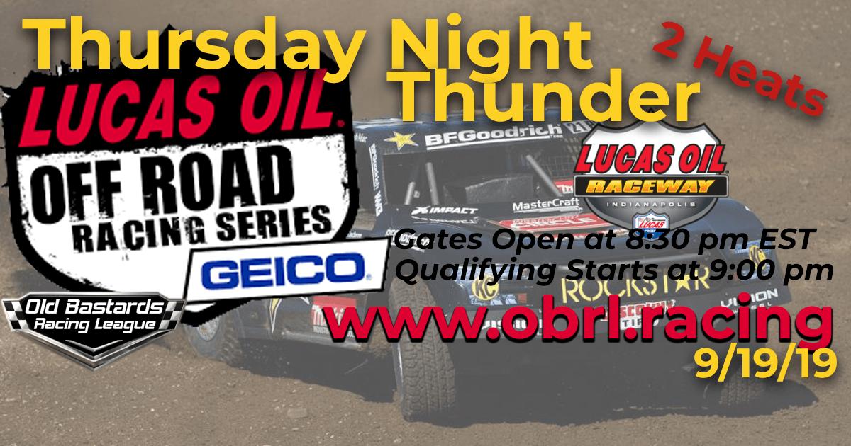 Lucas Oil Off Road Truck Series Race at Lucas Oil Raceway - 9/19/19