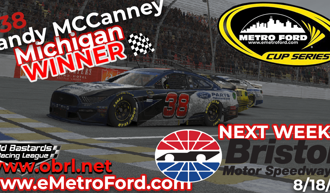 🏁Randy McCanney #38 Wins Nascar Metro Ford Cup Road Race at Michigan Int'l Speedway!