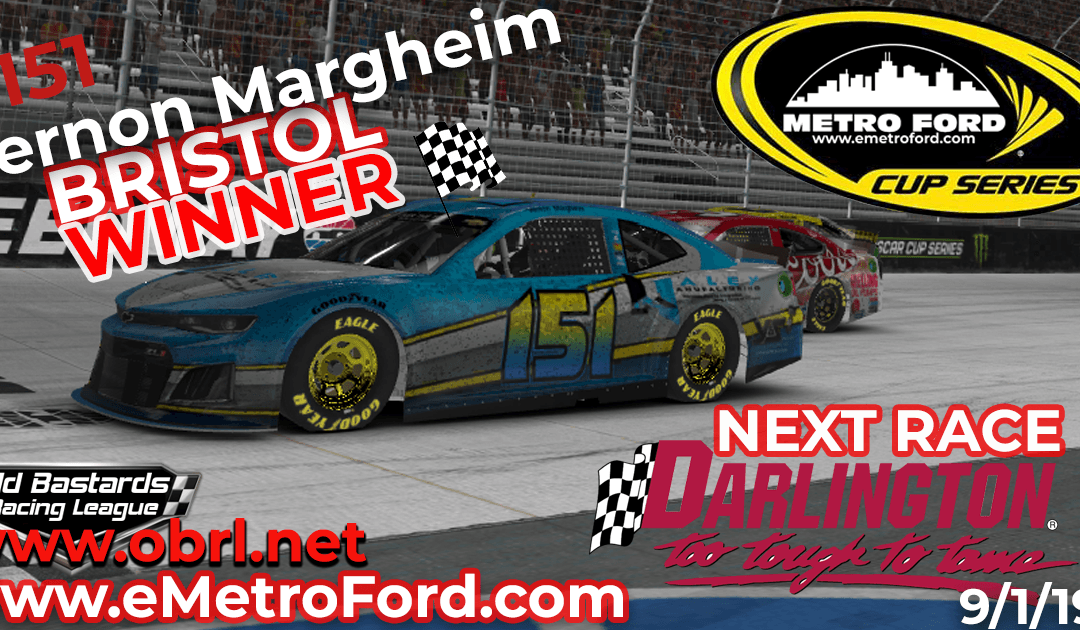 🏁Vernon Margheim #151 Wins Nascar Metro Ford Cup Short Track Race at Bristol Motor Speedway!