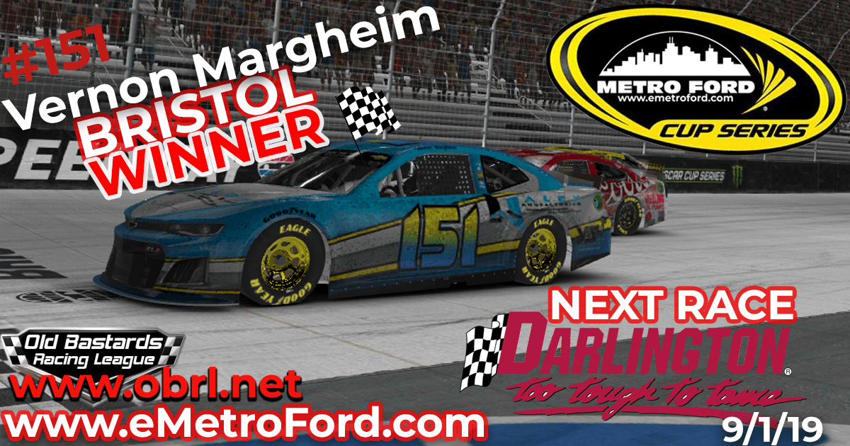 Vernon Margheim #151 Wins Nascar Metro Ford Cup Short Track Race at Bristol