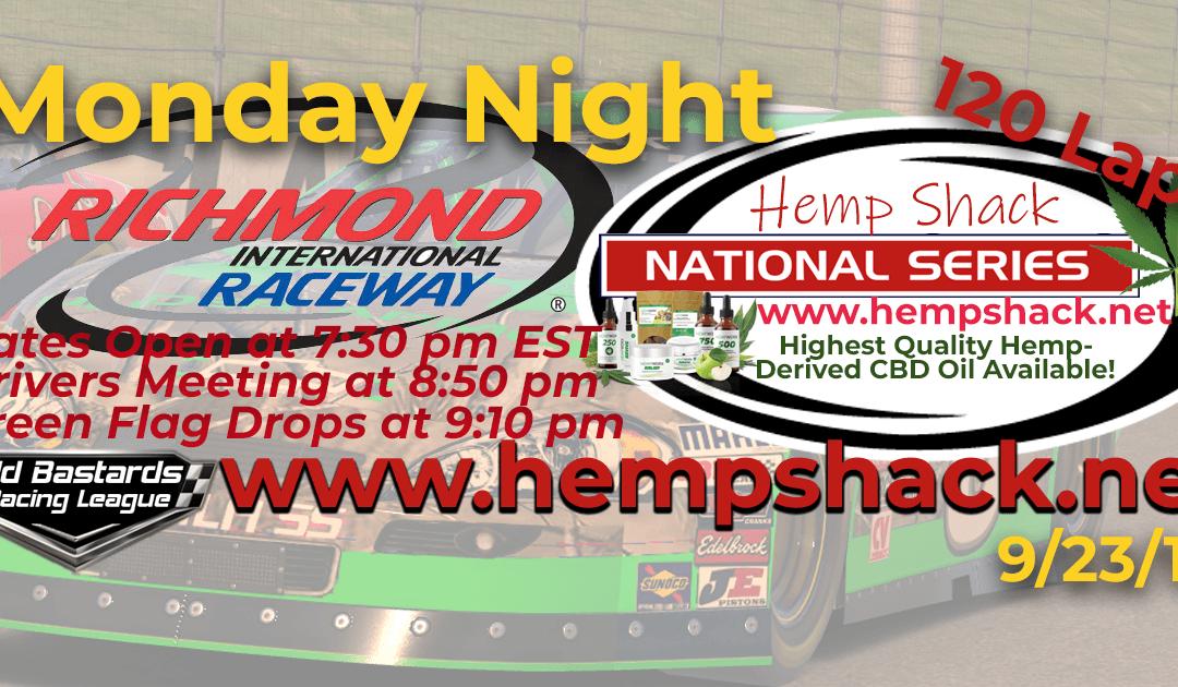 🏁WINNER: Mike Schrader #4! Week #3 Hemp Shack CBD Oil National Series Race at Richmond Raceway – 9/23/19 Monday Nights