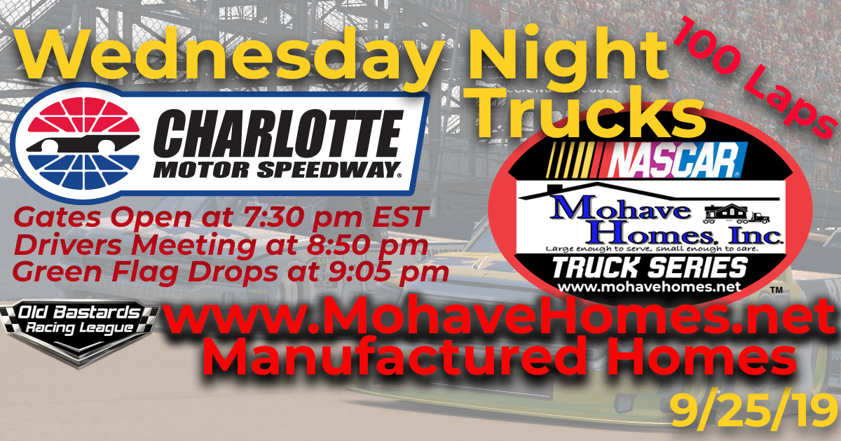 Nascar Cavco Manufactured Homes Mohave Homes Truck Series Race at Charlotte Motor Speedway