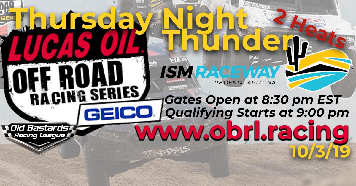 Lucas Oil Off Road Truck Series Race at Phoenix ISM Raceway - 10/3/19