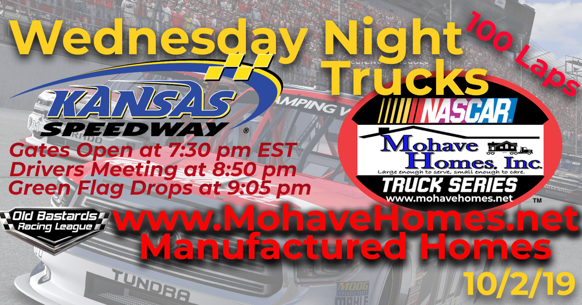 Cavco Modular Homes Mohave Homes Truck Series Race at Kansas Speedway
