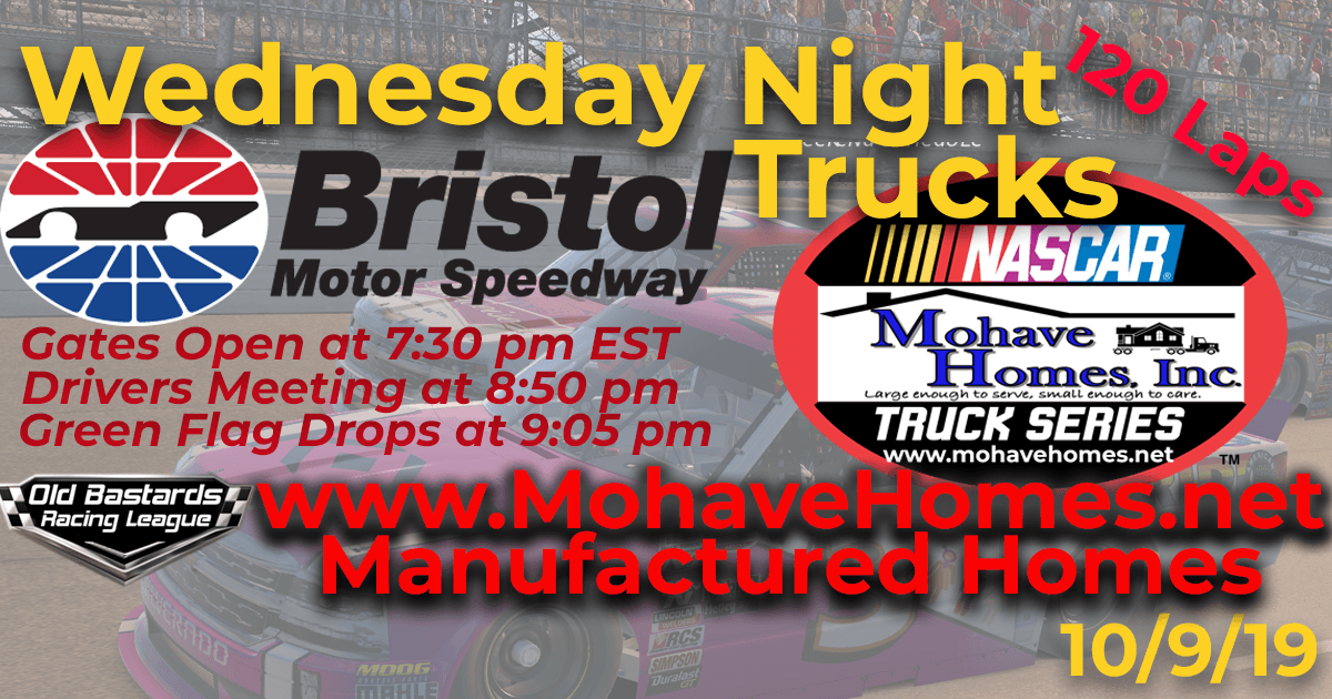 Nascar Cavco Mobile Homes Mohave Homes Truck Series Race at Bristol Motor Speedway