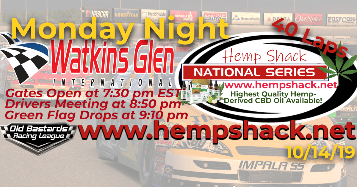 Hemp Shack CBD Oil National Series Race at Watkins Glen - 10/14/19