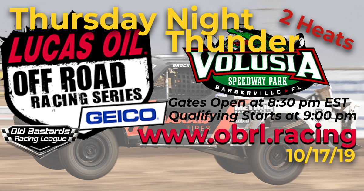 Lucas Oil Off Road Truck Series Race at Volusia Speedway Park - 10/17/19