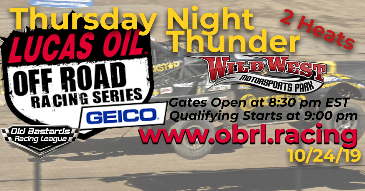 Lucas Oil Off Road Truck Series Race at Wild West MotorSports Park - 10/24/19