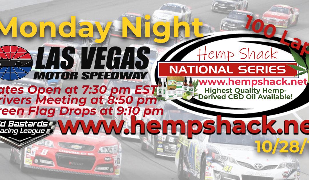 🏁WINNER: Eddie Jones #14! Week #8 Hemp Shack CBD Oil National Series Race at Las Vegas Motor Speedway – 10/28/19 Monday Nights