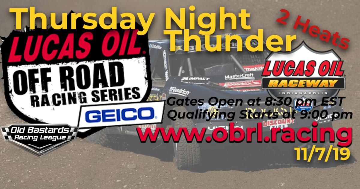 iRacing Lucas Oil Off Road Truck Series Race at Lucas Oil Raceway - 11/7/19