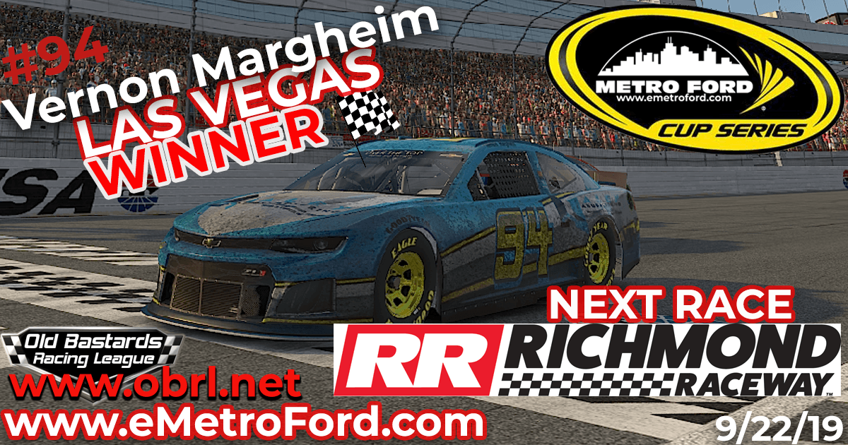 🏁Vernon Margheim #94 Wins Nascar Metro Ford Cup Race at Las Vegas Motor Speedway!