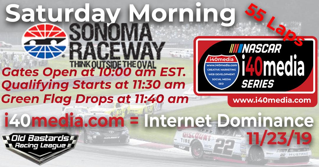 🏁WINNER: Ed Adams #42! Week #1 i40media Grand Nationals Series Race at Sonoma -11/23/19 Saturday Mornings