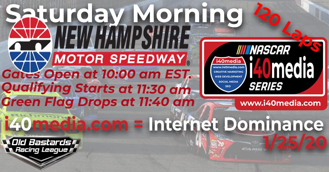 Week #10 i40media Grand Nationals Series Race at New Hampshire – 1/25/20 Saturday Mornings