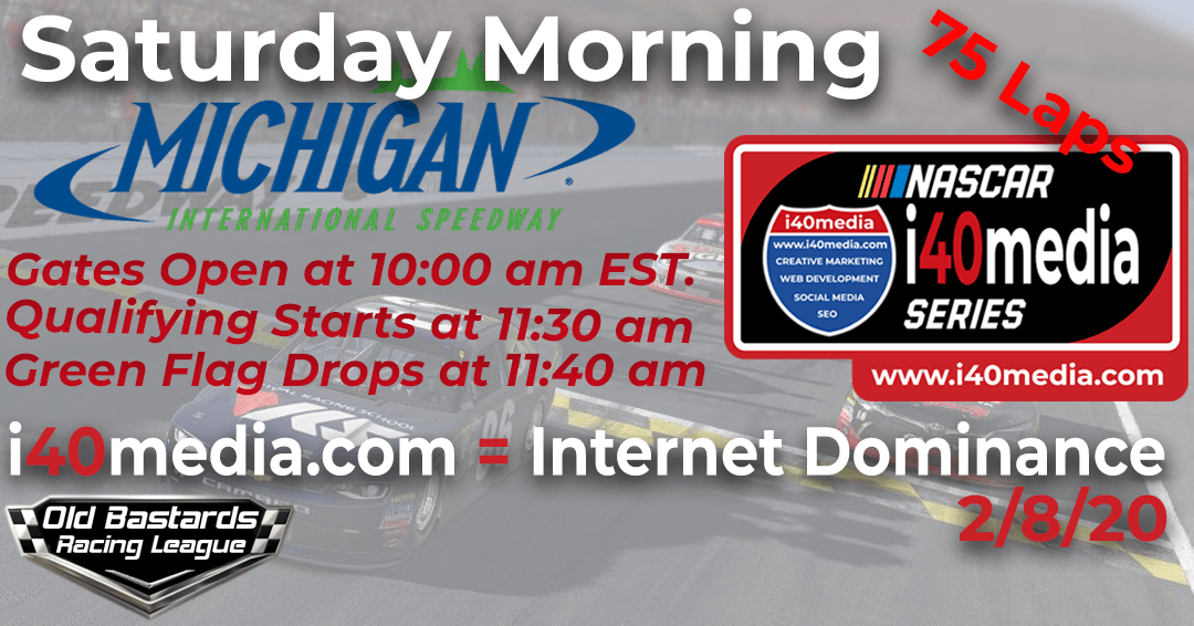 Week #12 i40media Grand Nationals Series Race at Michigan Int'l Speedway – 2/8/20 Saturday Mornings