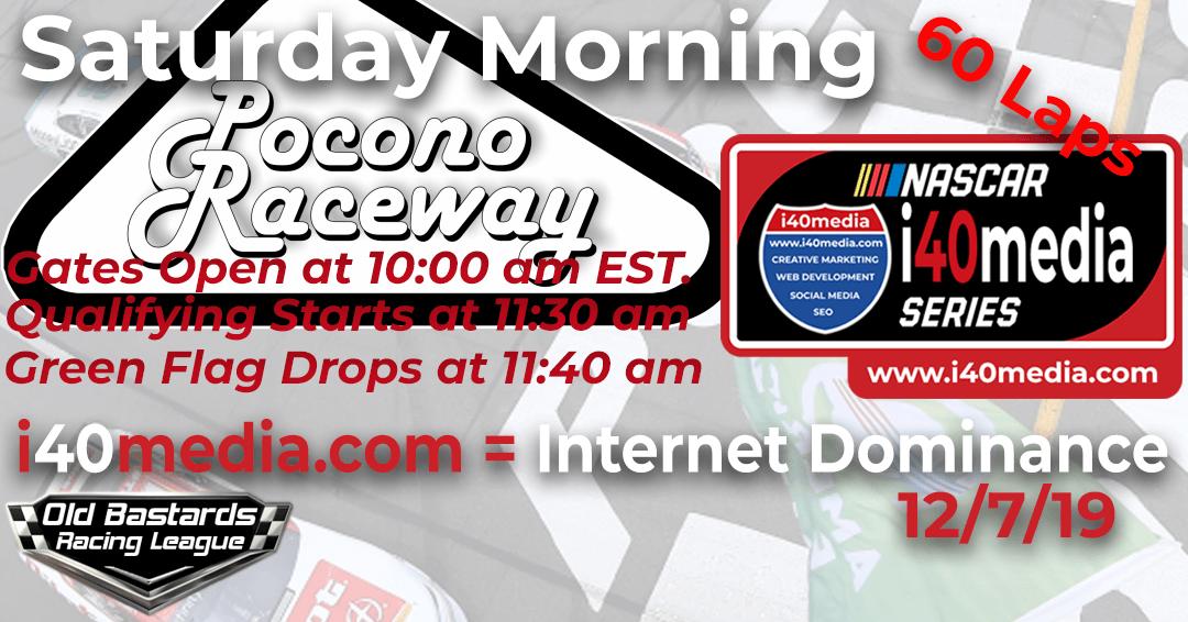 Week #3 i40media Grand Nationals Series Race at Pocono -12/7/19 Saturday Mornings