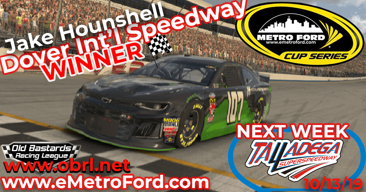 Jake Hounshell Graps First Win In Nascar Metro Ford Cup Race at Dover Int'l Speedway!