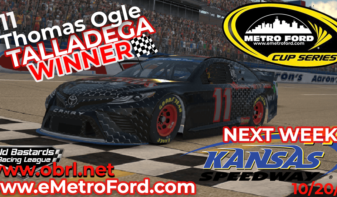 """🏁 Tom """"Liberace"""" Ogle Steals Win In Nascar Metro Ford Cup Race at Talladega SuperSpeedway!"""
