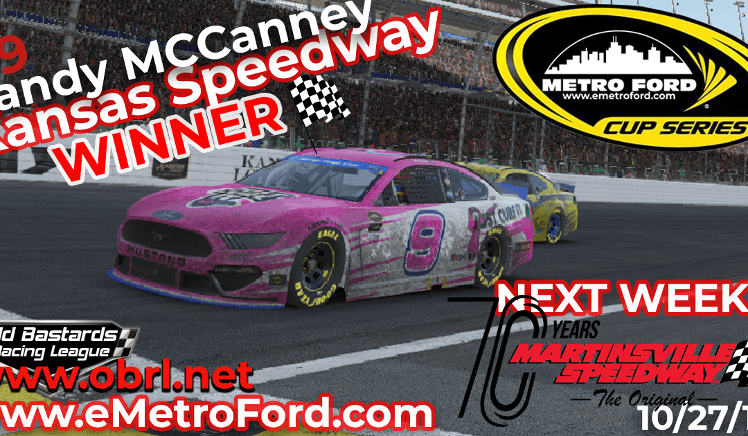 🏁 Randy McCanney #9 Wins Nascar Metro Ford Chicago Cup Race at Kansas Speedway!