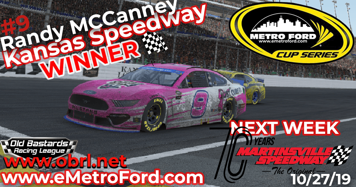 Randy McCanney #9 Wins Nascar Metro Ford Chicago Cup Race at Kansas Speedway!