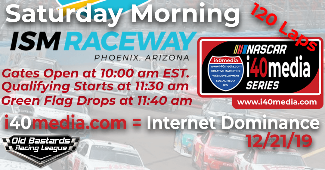 Week #5 i40media Grand Nationals Series Race at ISM Phoenix – 12/21/19 Saturday Mornings