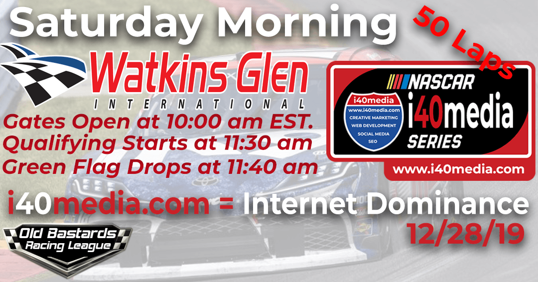 Week #6 i40media Grand Nationals Series Race at Watkins Glen – 12/28/19  Saturday Mornings