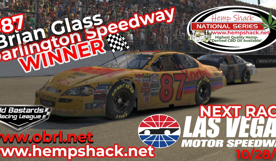 🏁 Brian Glass #87 Wins Nascar K&N Pro Hemp Shack Certified CBD Oil Nationals at Darlington!