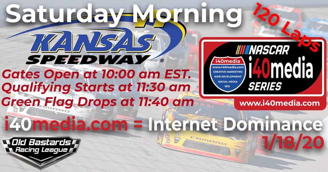 Week #9 i40media Grand Nationals Series Race at Kansas Speedway – 1/18/20 Saturday Mornings