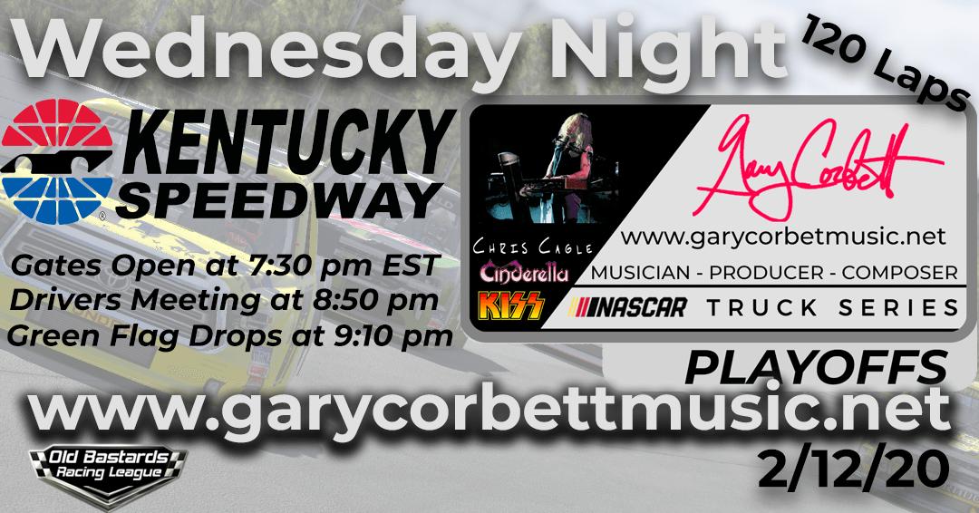 Week #10 Gary Corbett Music Truck Series Race at Kentucky Speedway – 2/12/20 Wednesday Nights