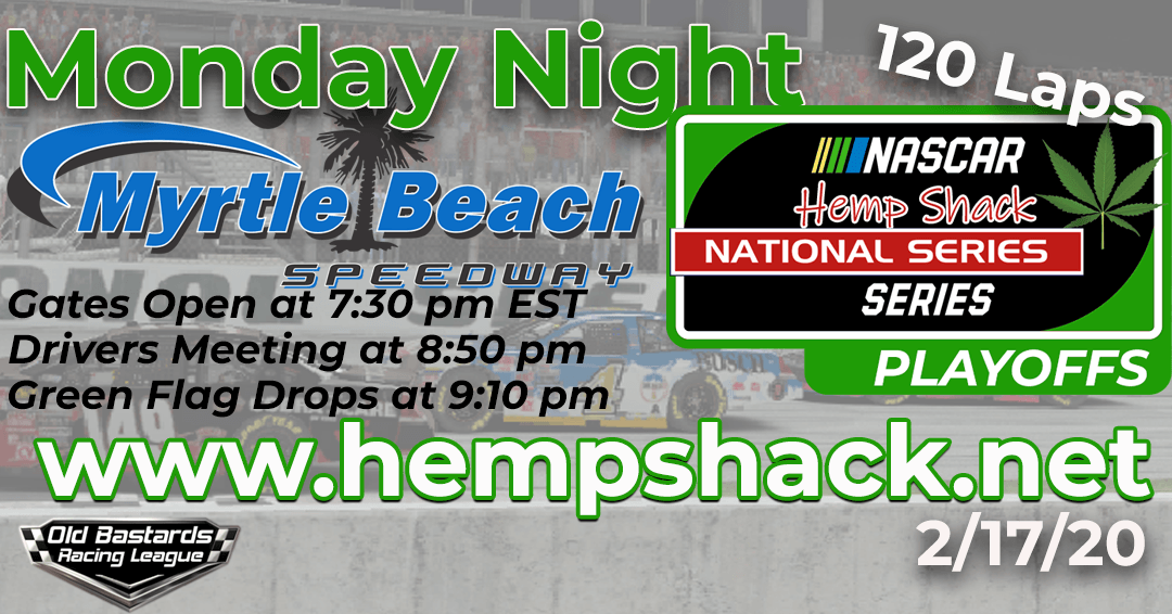 iRacing Hemp Shack CBD Gummies National Series Race at Myrtle Beach Speedway