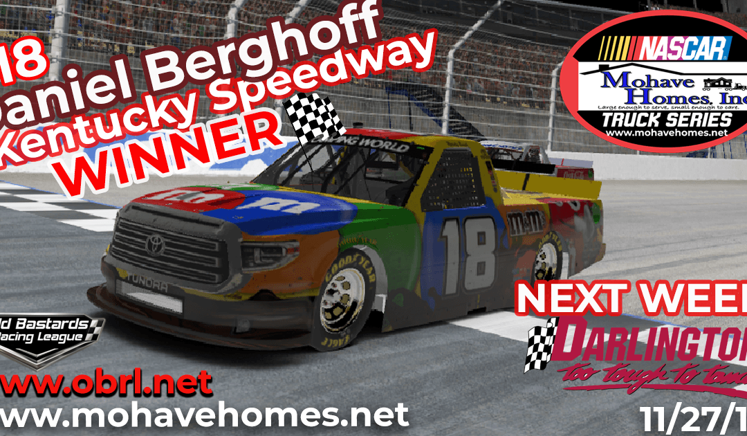 🏁 Dan Berghoff #18 Wins The Nascar Mohave Homes Truck Series Race at Kentucky Speedway!