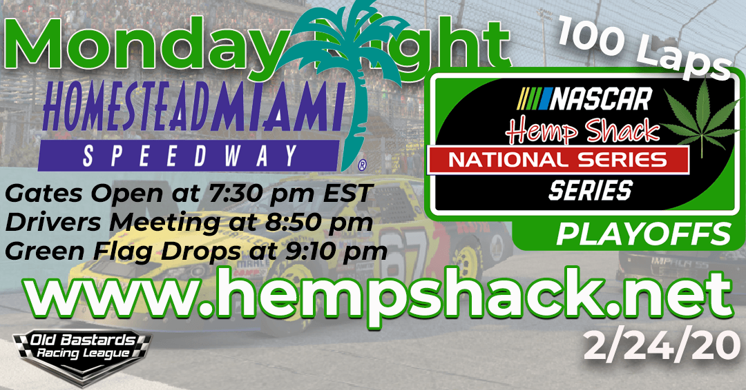 iRacing Hemp Shack Hemp Oil National Series Race at Homestead Miami Speedway