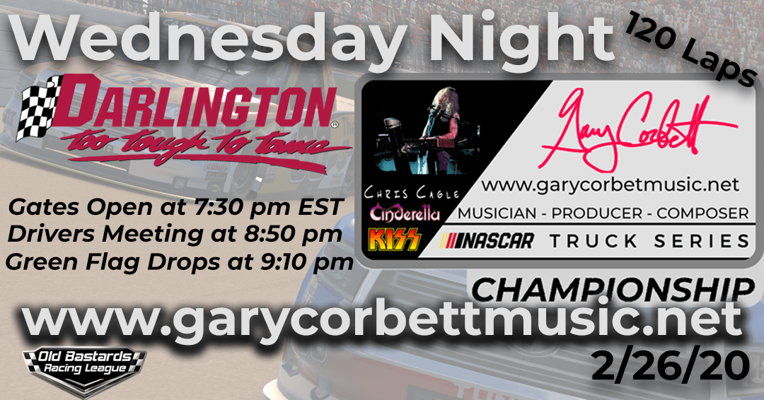 Gary Corbett Music Truck Series Race at Darlington Raceway