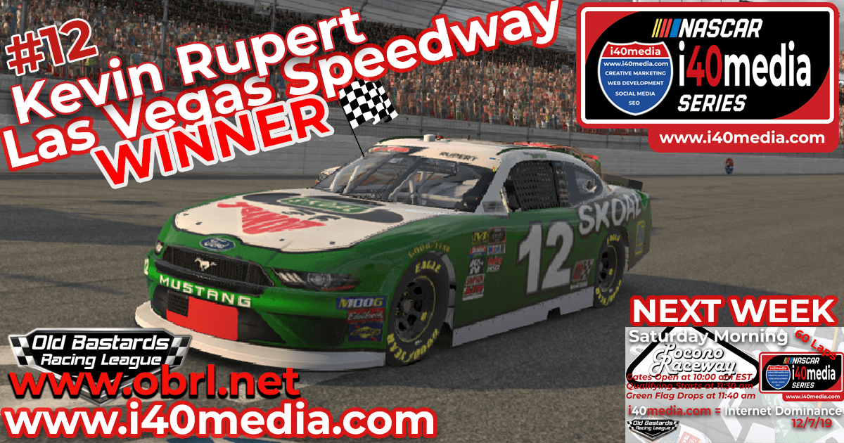 Kevin Rupert #12 Wins Nascar i40media Grand National Race at Las Vegas Motor Speedway!