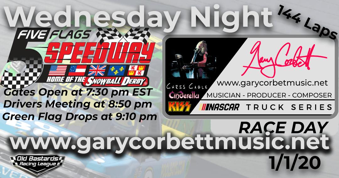 Week #4 Gary Corbett Music Truck Series Race at Five Flags Speedway – 1/1/20 Wednesday Nights