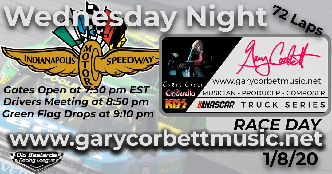 Week #5 Gary Corbett Music Truck Series Race at Indianapolis Motor Speedway -1/8/20 Wednesday Nights