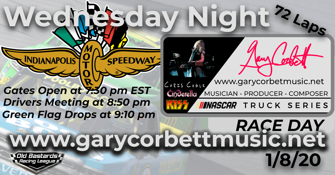 Nascar Gary Corbett Scrapmetal Keyboardist Truck Series Race at INDY