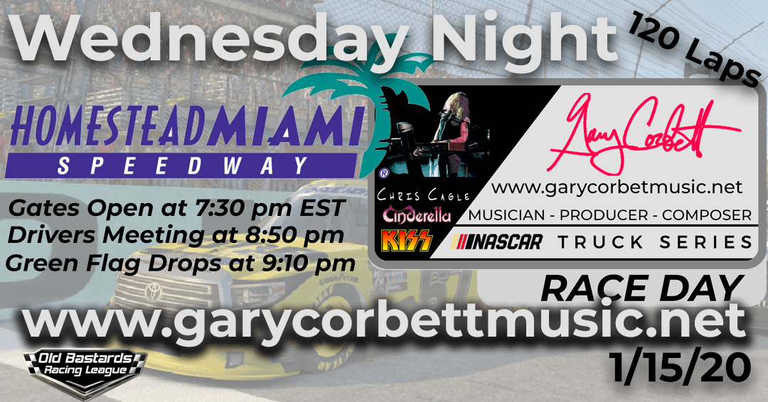 Week #6 Gary Corbett Music Truck Series Race at Homestead-Miami Speedway- 1/15/20 Wednesday Nights