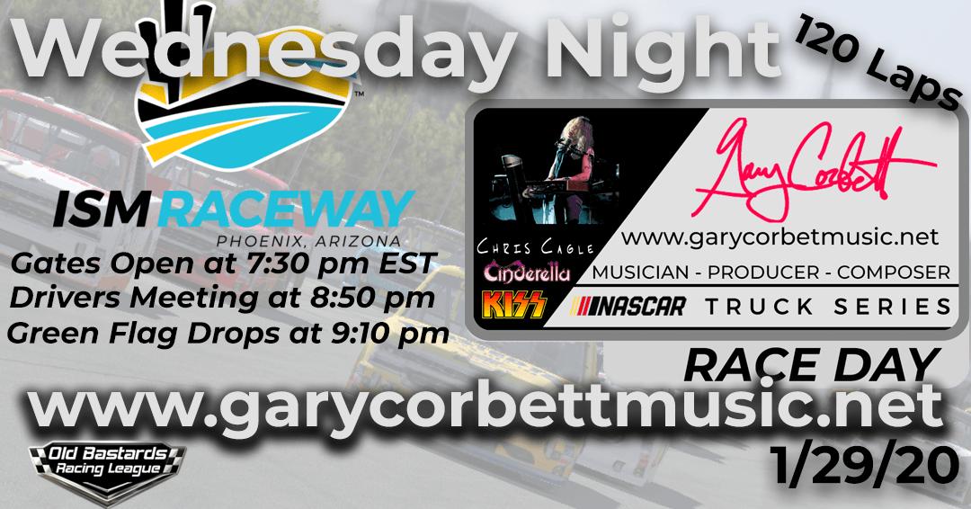 Week #8 Gary Corbett Music Truck Series Race at ISM Raceway – 1/29/20 Wednesday Nights