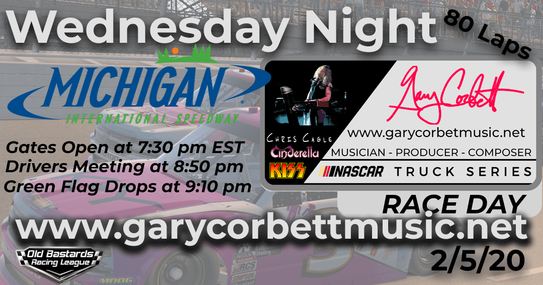 Nascar Gary Corbett Music Composer Truck Series Race at Michigan Speedway