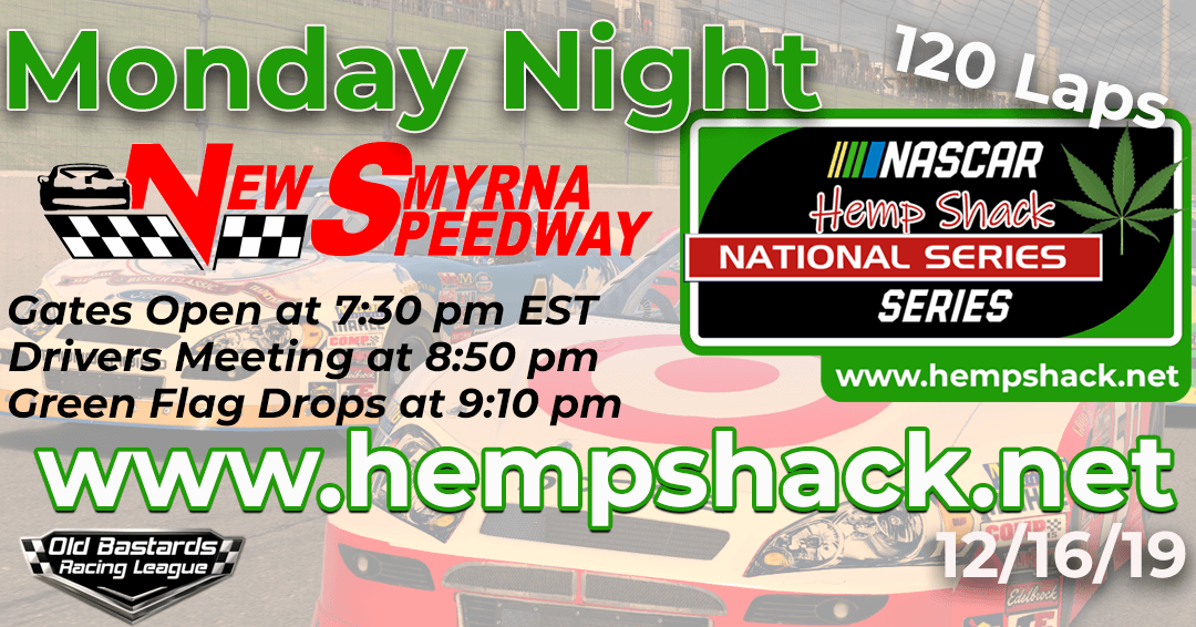 🏁 WINNER: Eddie Jones #14! Week #2 Hemp Shack Hemp Oil National Series Race at New Smyrna Speedway – 12/16/19 Monday Nights