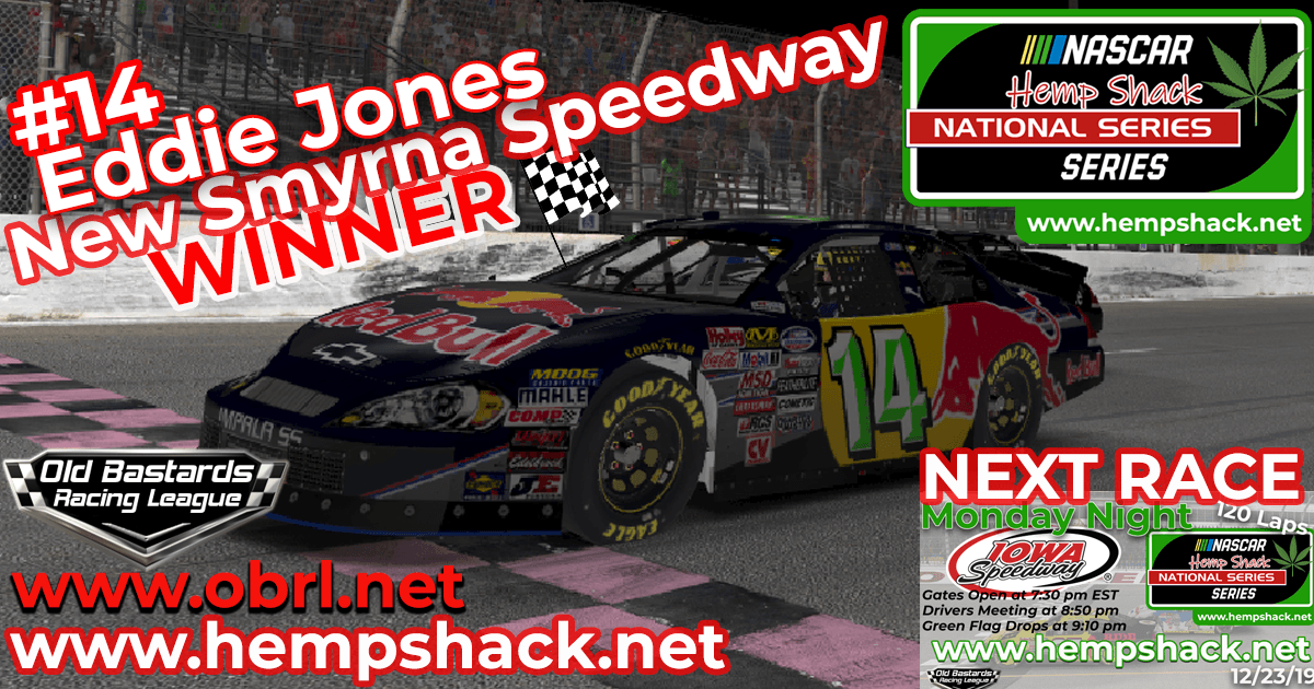 Eddie Jones # Wins Nascar ARCA Hemp Shack CBD Race at New Smyrna Speedway!