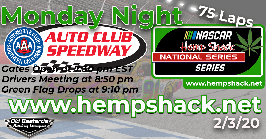 iRacing Hemp Shack CBD Dog Treats National Series Race at Auto Club Speedway