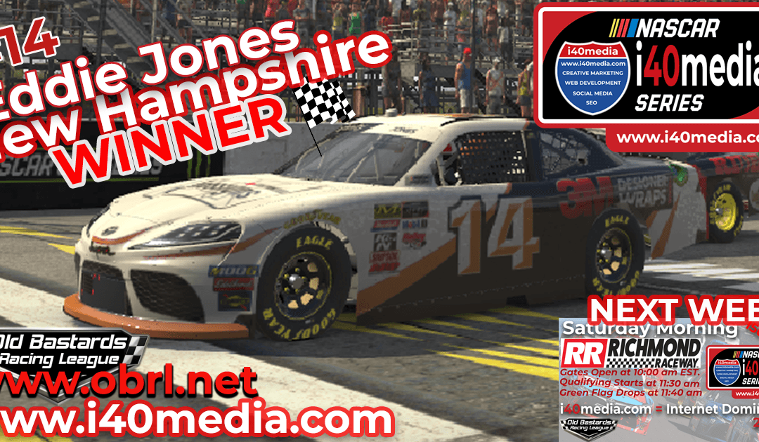 🏁 Rajin Kajin #14 Cheats Another Win in Nascar i40media Grand National Xfinity Race at New Hampshire!