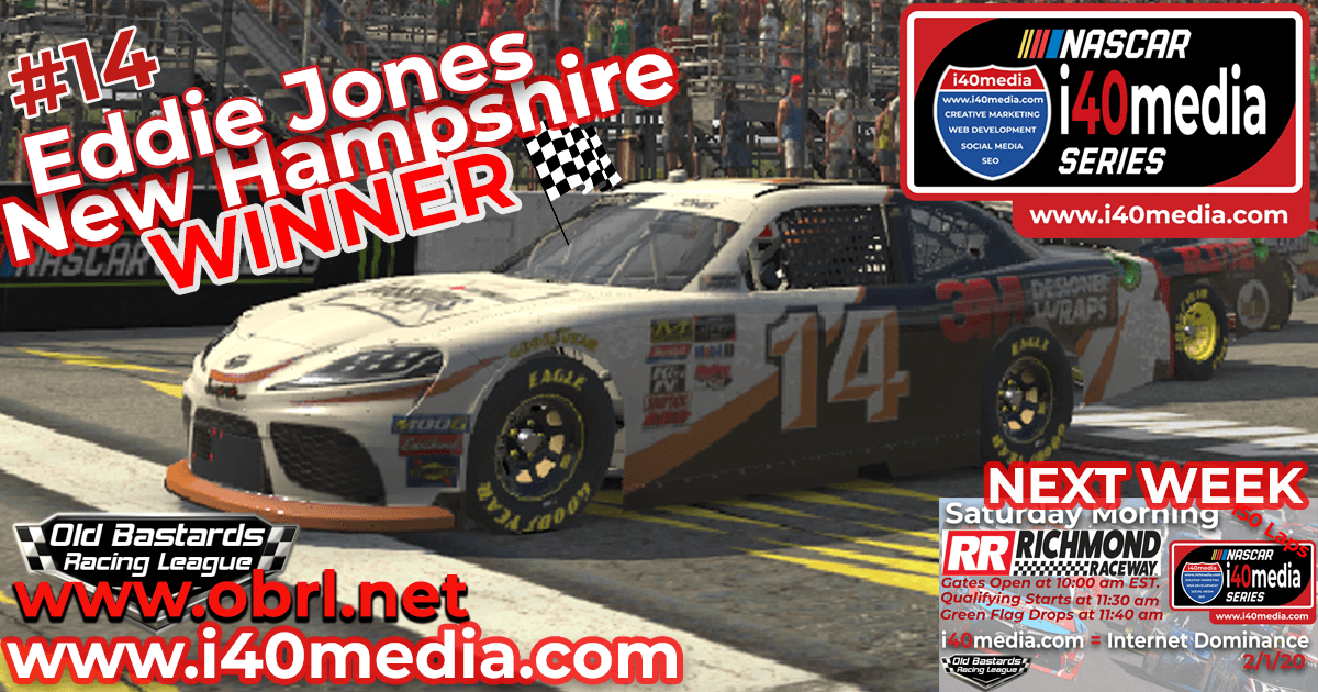 🏁 Rajin Kajin #14 Cheats Another Win in Nascar i40media Grand National Xfinity Race at New Hampshire Motor Speedway!