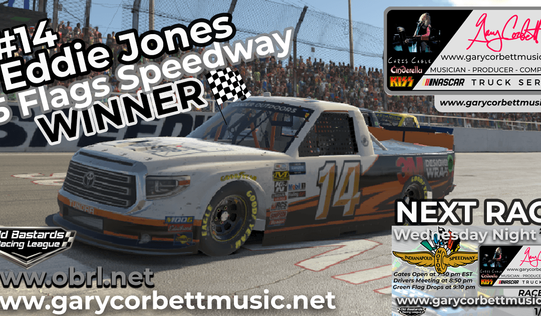 🏁 Eddie Rajin Kajin Jones #14 Wins Nascar Gary Corbett Truck Race at 5 Flags Speedway!