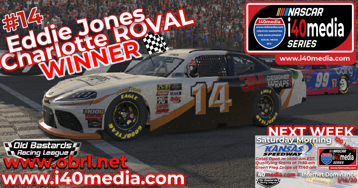 🏁 Rajin Kajin #14 Wins Nascar i40media Grand National Xfinity Race at the Charlotte Roval!