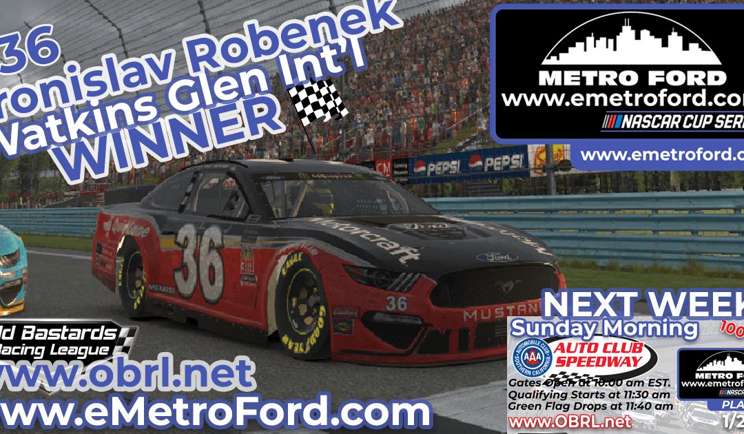 🏁 Bronislav Robenek #36 Wins Nascar Metro Ford Chicago Cup Race at Watkins Glen Int'l!
